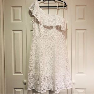NWT Lilly Pulitzer One Shoulder Lace Midi Dress